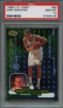 1998-99 u.d. ionix #69 DIRK NOWITZKI dallas mavericks rookie card PSA 10