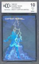 1993 dc cosmic teams holograms #dch11 CAPTAIN MARVEL BGS BCCG 10