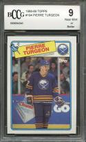 1988-89 topps #194 PIERRE TURGEON buffalo sabres rookie card BGS BCCG 9
