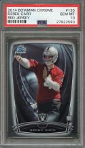 2014 bowman chrome #135 DEREK CARR oakland raiders rookie card PSA 10