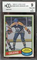 1980-81 o-pee-chee #289 MARK MESSIER oilers rookie (50-50 CENTERED) BGS BCCG 9