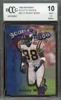 1998 bowman scout's choice #sc12 RANDY MOSS vikings rookie BGS BCCG 10