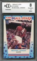 1989-90 fleer stickers #3 MICHAEL JORDAN chicago bulls BGS BCCG 8