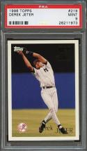 1996 topps #210 DEREK JETER new york yankees (future star) PSA 9