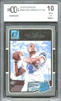 2016 donruss #362 DAK PRESCOTT dallas cowboys rookie card BGS BCCG 10
