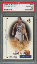 1998-99 sp authentic #99 DIRK NOWITZKI dallas mavericks rookie card PSA 10