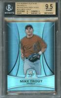 2010 bowman platinum pros refractor thick stock #pp5 MIKE TROUT rookie BGS 9.5