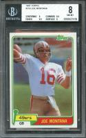 1981 topps #216 JOE MONTANA san francisco 49ers rookie card BGS 8 (8 8.5 8.5 8)