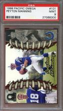 1998 pacific omega #101 PEYTON MANNING indianapolis colts rookie card PSA 9