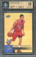 2009-10 upper deck #234 STEPHEN CURRY warriors rookie card (PRISTINE) BGS 10