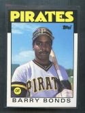 1986 Topps Traded #11T Barry Bonds Pittsburgh Pirates Rookie Card