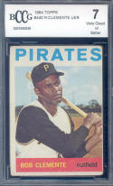 1964 topps #440 ROBERTO CLEMENTE pittsburgh pirates BGS BCCG 7