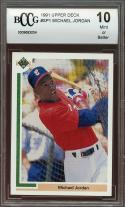 1991 upper deck #sp1 MICHAEL JORDAN white sox baseball rookie card BGS BCCG 10