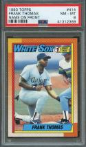 1990 topps #414 FRANK THOMAS chicago white sox rookie card PSA 8