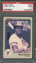 1983 fleer #360 TONY GWYNN san diego padres rookie card PSA 9