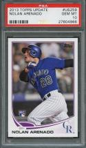 2013 topps update #us259 NOLAN ARENADO colorado rockies rookie card PSA 10