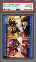 2001 topps combos #tc15 DREW BREES new orleans saints rookie card (pop 2) PSA 10
