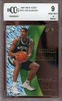 1997-98 e-x2001 #75 TIM DUNCAN san antonio spurs rookie card BGS BCCG 9