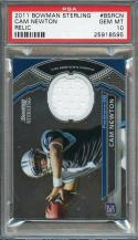 2011 bowman sterling relic #bsrcn CAM NEWTON carolina panthers rookie PSA 10