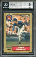 1987 topps traded tiffany #70t GREG MADDUX chicago cubs rookie BGS 9 (9 9 9 9)