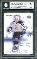 2001-02 upper deck challenge for the cup #117 JOSEF BOUMEDIENNE rookie BGS 9