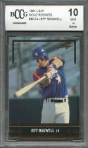 1991 leaf gold rookies #bc14 JEFF BAGWELL houston astros rookie card BGS BCCG 10