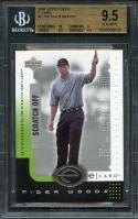 2001 upper deck e-card #E-TW TIGER WOODS golf rookie card BGS 9.5 (10 9 9.5 9.5)