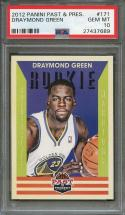 2012-13 panini past & present #171 DRAYMOND GREEN warriors rookie card PSA 10