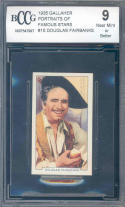 1935 gallaher portraits of famous stars #15 DOUGLAS FAIRBANKS BGS BCCG 9