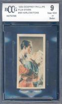 1934 godfrey phillips film stars #46 HARLOW/TONE BGS BCCG 9