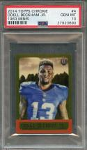 2014 topps chrome 1963 minis #4 ODELL BECKHAM new york giants rookie card PSA 10