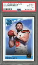 2018 panini donruss #303 BAKER MAYFIELD cleveland browns rookie card PSA 10