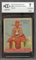 1933 indian gum r73 #36e THE BUFFALO BULL 192 MC BGS BCCG 7