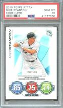 2010 topps attax code card MIKE STANTON new york yankees rookie card PSA 10