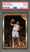 1998-99 topps #154 DIRK NOWITZKI dallas mavericks rookie card PSA 9