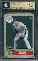 2017 topps chrome '87 topps #87t8 AARON JUDGE rookie BGS 9.5 (9 9.5 9.5 9.5)