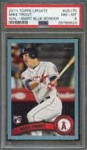 2011 topps update wal-mart blue border #us175 MIKE TROUT angels rookie PSA 8