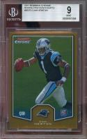 2011 bowman chrome preview inserts #bcr3 CAM NEWTON panthers rookie card BGS 9