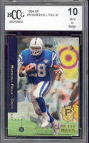 1994 sp #3 MARSHALL FAULK indianapolis colts rookie card BGS BCCG 10