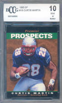 1995 sp #18 CURTIS MARTIN new england patriots rookie card BGS BCCG 10