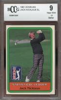 1981 donruss JACK NICKLAUS SL golf rookie card BGS BCCG 9