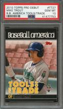2010 topps pro debut b b america tools/trade #tt27 MIKE TROUT rookie card PSA 10