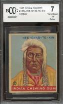 1933 indian gum r73 #158a HEE-OHKS-TE-KIN 48 RED BGS BCCG 7