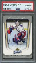 2005-06 upper deck mvp #418 HENRIK LUNDQVIST new york rangers rookie card PSA 10