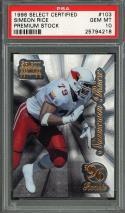 1996 select certified premium stock #103 SIMEON RICE cardinals rookie card PSA 10