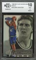 1998-99 flair showcase row 3 #16 DIRK NOWITZKI mavericks rookie card BGS BCCG 10
