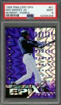 1998 pinnacle certified epix moment purple #e1 KEN GRIFFEY JR mariners PSA 9