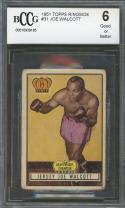 1951 topps ringside #31 JOE WALCOTT boxing BGS BCCG 6