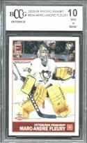2003-04 pacific exhibit #234 MARC-ANDRE FLEURY golden knights rookie BGS BCCG 10