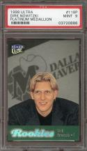 1998-99 ultra platinum medallion #118p DIRK NOWITZKI mavericks rookie card PSA 9
